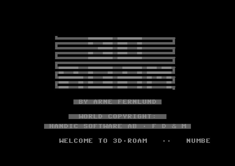 3D Roam (Arne Fernlund, 1984, C64)_3