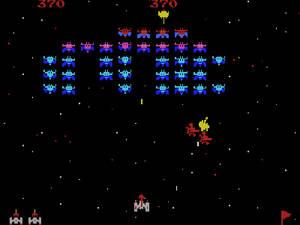 Arkadspelet Galaxian från 1979.