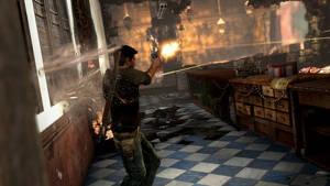 Visst är vinande kulor runt benen intensivt även i Uncharted. Men i övrigt tar Drake emot ganska mycket bly.