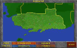 I Oblivions föregångare Daggerfall är varje prick är en ort eller plats. Det blir ganska många platser att besöka och mycket man kan stöta på.