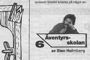 Sten Holmberg anno 1989 - från en äventyrsskola för Commodore 64.