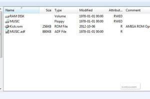 Amigans diskettstationer och ramdiskar är nu klara att användas från din PC.