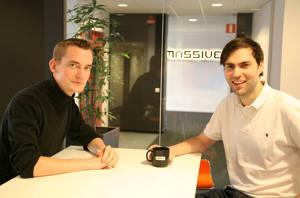 Martin Hultberg och Petter Mannerfelt på Massive.