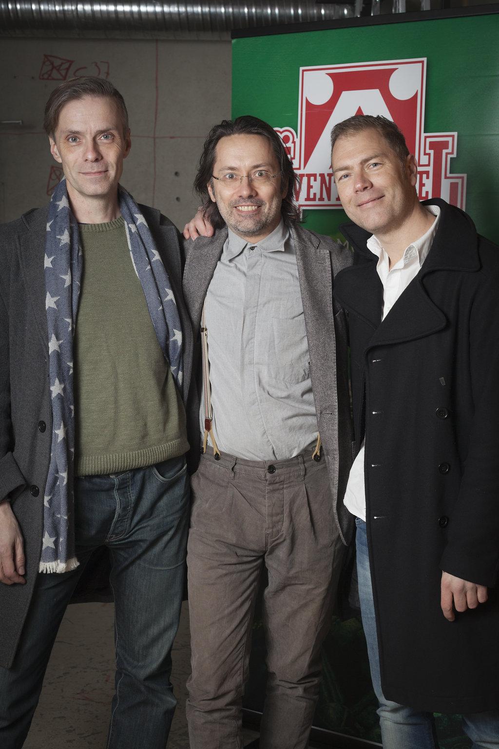 Peter Bergting, Magnus Seter och Tony Cronstam