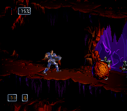 09-doom-troopers-mutant-chronicles-snes-screenshot-shoot-a-boulder