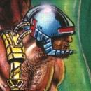Unika illustrationer från C64-spelet Rubicon